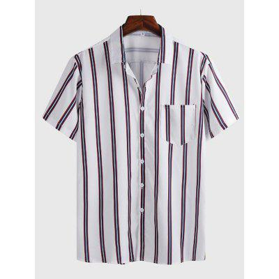 New Mens Printed Short-sleeved Shirt Casual Business Clothing