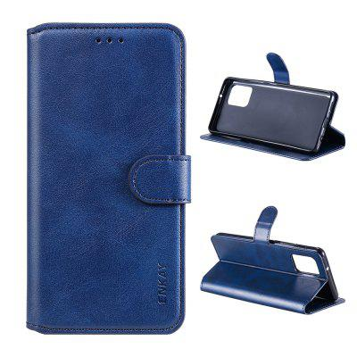 ENKAY Hat-Prince Calfskin Pattern PU+TPU with Card Slot Stand Phone Case for Samsung Galaxy A72 5G/Samsung A52 A42 A12 5G