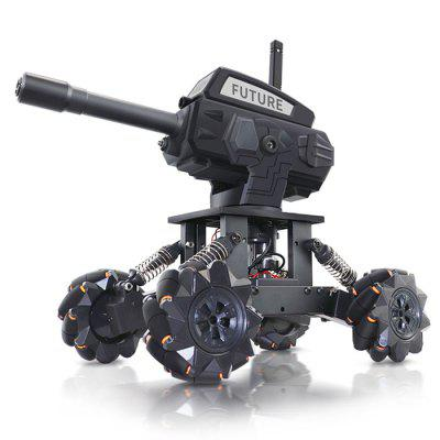JJ-01 DIY 4WD Water Bomb Mecha RC Car Tank Toy for Kids Alloy Programming Remote Control Off-road Climbing Adult Children Gift
