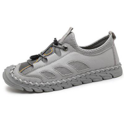 Men Breathable Air Mesh Shoes Large Size Sandals Outdoor Casual Flat Shoes