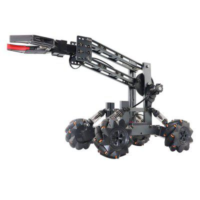 JK-01 Alloy Remote Control Engineer RC Car Toy DIY Assembly Manipulator 14 Channel 2.4G Multi-function 4WD Remote Control Engineering Vehicle