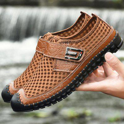 Summer Breathable Air Mesh Casual Men Shoes Velcro Sports Flat