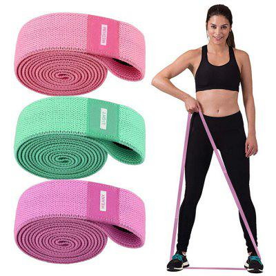 Sports Yoga Long Beauty Back Knitted Auxiliary Stretch Band Fitness Training Resistance Open Shoulder Stretch Band 3PCS
