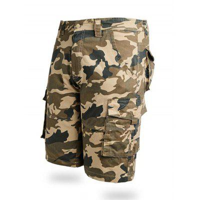 Summer Workwear Man Camouflage Five Points Shorts Loose Military Pants Male Large Size Work Pants
