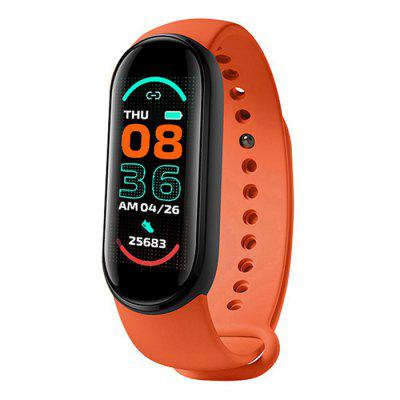 M6 Smart Bracelet Fitness Tracker Heart Rate and Blood Pressure Monitoring Wristband for iOS Android Phones