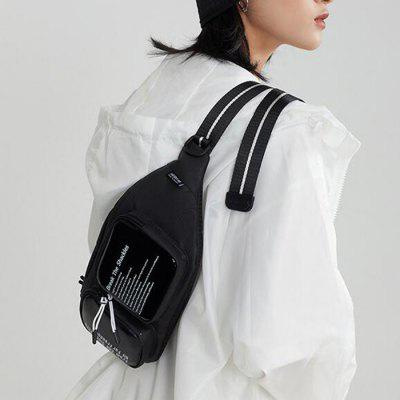 Tide Chest Bag Male Street Trend Personality Messenger Bag Female Simple Fashion Popular Casual Sports Shoulder Chest Bag