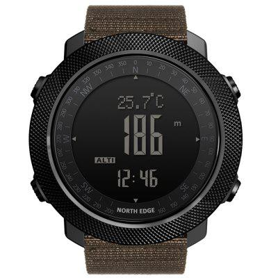 North Edge Apache Men Outdoor Sports Smart Watch Altitude Air Pressure Thermometer Multifunctional Mountaineering Swimming Compass World Time 50M Waterproof Pedometer Wristwatch