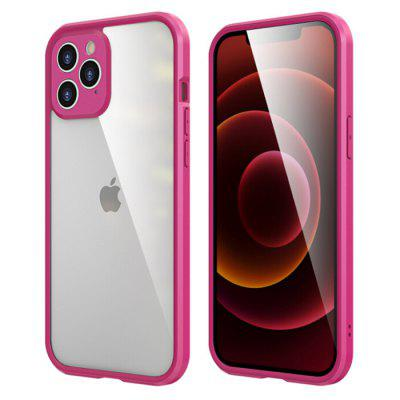 TPU Frame Buckle Protective Cover Two Strong Double-sided High Aluminum Glasses Phone Case for iPhone 12 Series
