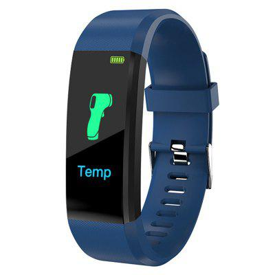 115plus 0.96-inch Color Screen Smart Bracelet Sports Pedometer Fitness Tracker Sleep Monitor Bluetooth Waterproof Blood Pressure Dynamic Heart Rate Monitoring Wristband for IOS Android lige men sport bracelet smart watch led color screen heart rate monitor pedometer tracker fitness watch women for android ios