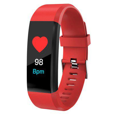115plus 0.96-inch Color Screen Smart Bracelet Sports Pedometer Fitness Tracker Sleep Monitor Bluetooth Waterproof Blood Pressure Dynamic Heart Rate Monitoring Wristband for IOS Android