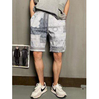 Color Prints Hawaii Beach Style Man Shorts Male Workwear Trendy Thin Casual Five-point Pants