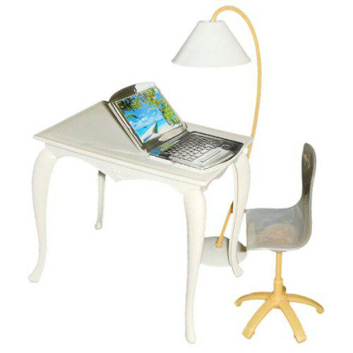 Kids Mini Computer Desk Chair Pc Lamp Office Furniture Toy