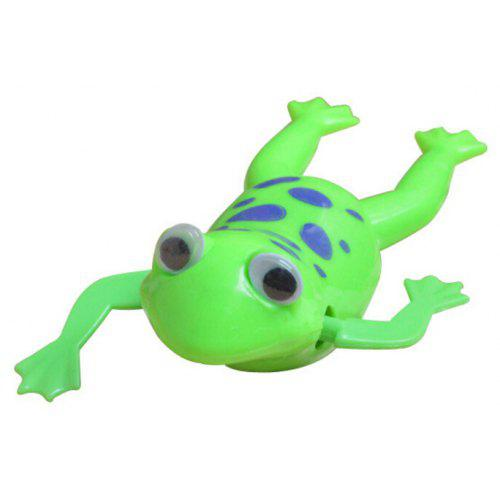 Wind-up Frog Swimming Pool Bath Time Animal Clockwork Floating Kid Baby Toy ^F