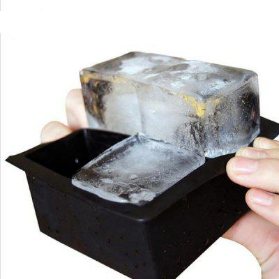 Cztery otwory Four Grid Silicone Square Ice Cube Mold