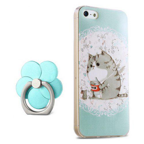 low priced e3968 a9c1f Cartoon Fat Cat Cover Case for iPhone 5 / 5S / SE