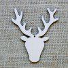 Wooden Deer Head Christmas Tree Decorations 10pcs - PALOMINO