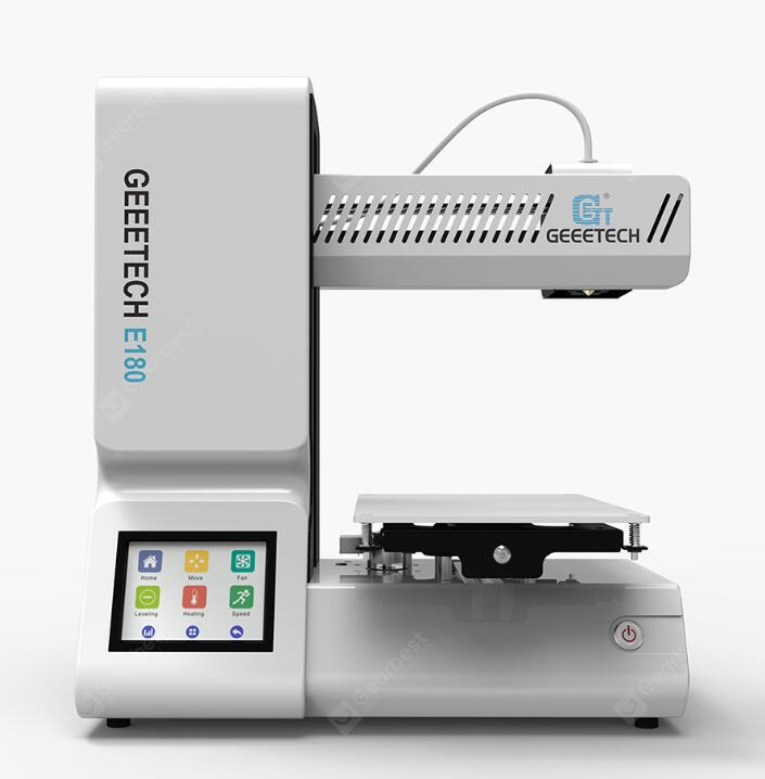 Geeetech E180 Integrated 3D Printer - PLATINUM EU PLUG