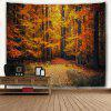 Wall Hanging Art Maple Forest Path Print Tapestry - OURO DO MARROM