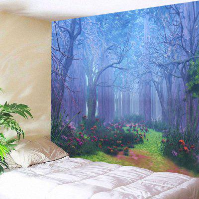 Forest Floral Path Print Tapestry Wall Hanging Decor