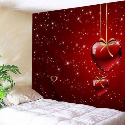 Dia dos Namorados Heart Starlight Print Tapestry Wall Hanging Decor