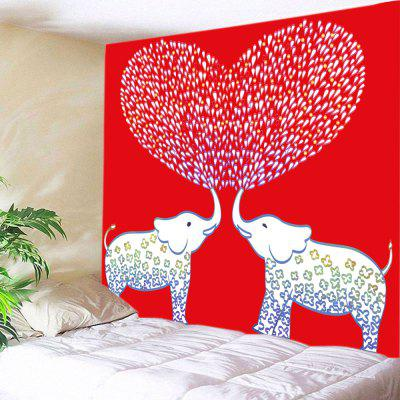 Elephant Lover Pattern Tapestry Valentine  's Day Wall Decoration