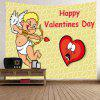 Cupidon Print Tapestry Valentine  's Day Wall Decoration - GALBEN