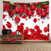 Roses Petals Imprimare Tapestry Valentine  's Day Wall Decoration - ROșU