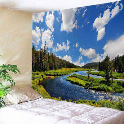 River In Forest Print Tapestry Muur Opknoping Decoratie