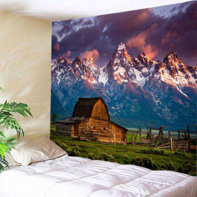 Montanhas House Print Tapestry Wall Hanging Decoration
