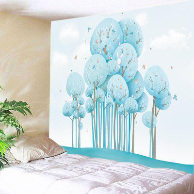 Cartoon Forest Animals Print Tapestry Wall Hanging Decoration