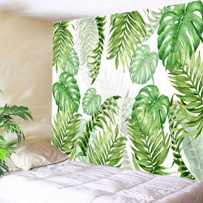 Tropical Leave Print Tapestry Wall Hanging Decoration