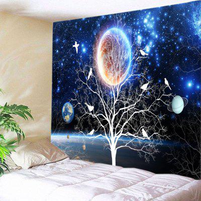 Galaxy Tree Print Tapestry Wall Hanging Decoration
