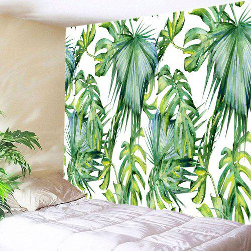 Tropical Leaves Print Tapestry Wall Hanging Decoration
