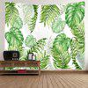 Tropical Leave Print Tapestry Wall Hanging Decoration - VERDE