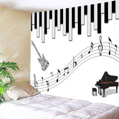 Instrumento Musical Impressão Tapartry Wall Hanging Decoration