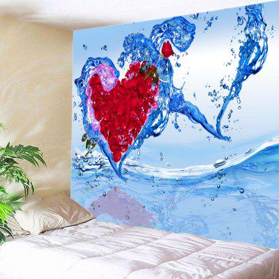 Rose Petal Water Splash Heart Wall Decoration Tapestry