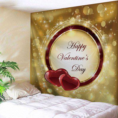 Happy Valentine  's Day Vytisknout Tapestry Wall Hanging Decor