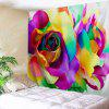 Valentine's Day Colorful Rose Print Wall Hanging Tapestry - COLORFUL