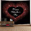 Valentine's Day Greeting Love Heart Printed Wall Hanging Tapestry - COLORMIX