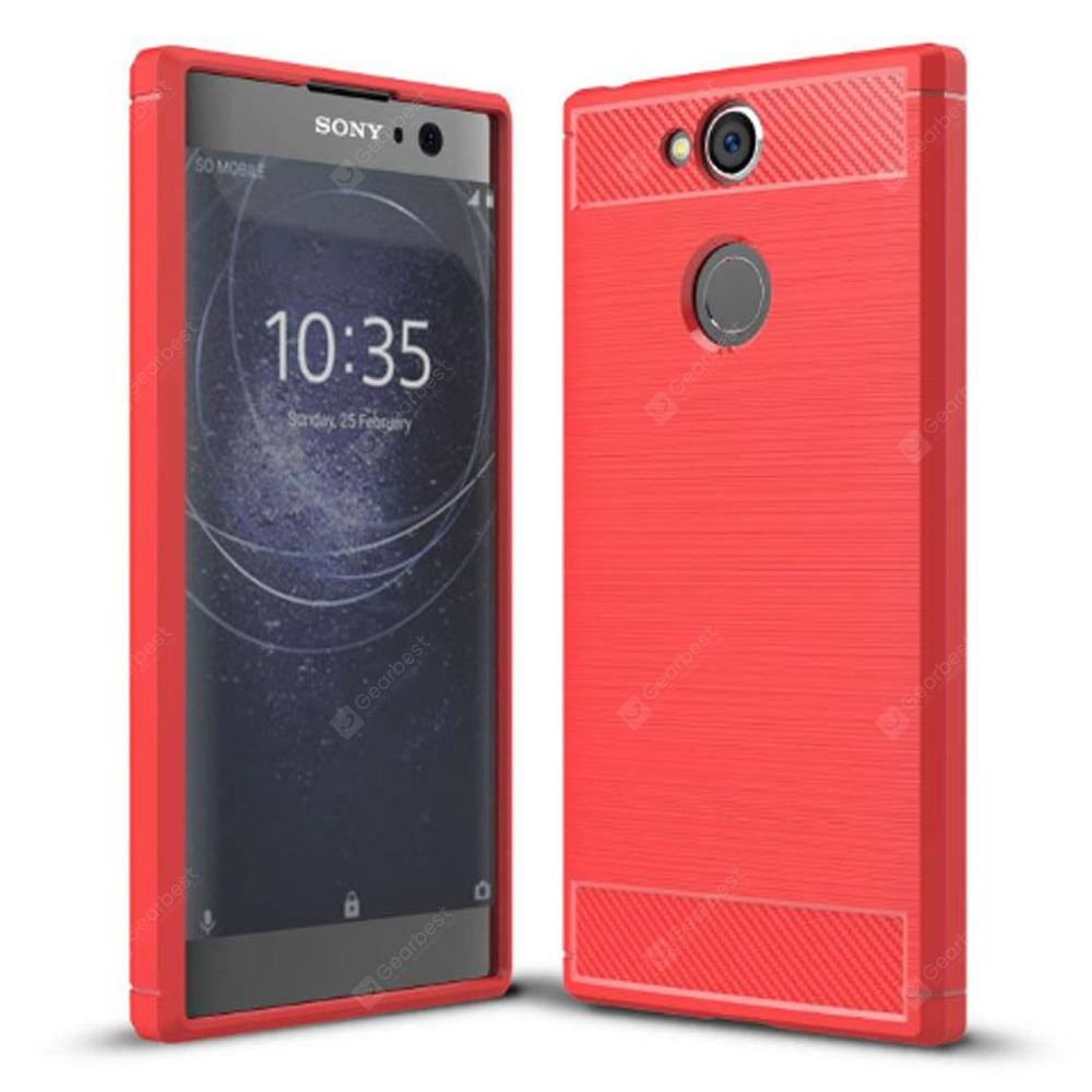 Naxtop Wire Drawing TPU Back Case for Sony Xperia XA2