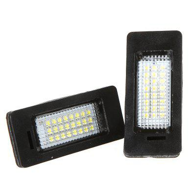 Pair of 24 LEDs SMD3528 LED License Plate Lights for BMW
