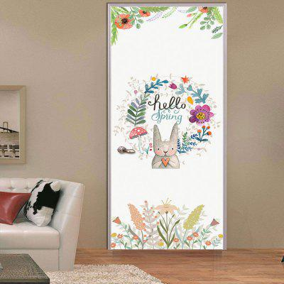 Floral Wall Door Sticker for Home Decoration quote wall sticker i love you for home decoration waterproof removable decals