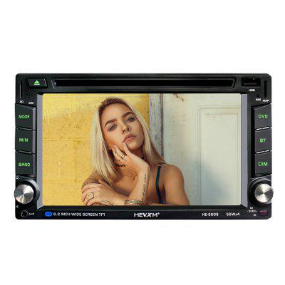 HEVXM HE - 6609 6.2 inch Touch Screen Car DVD Player 10 inch hdmi monitors hd digital lcd screen car headrest monitor car audio playerfm car headrest dvd player with gaming system