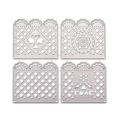 Net Border Hollow Metal Cutting Dies Set for DIY Photo Album Decoration brooklyn bridge landmark building 3d pop up greeting card laser cutting dies envelope hollow carved handmade kirigami gifts