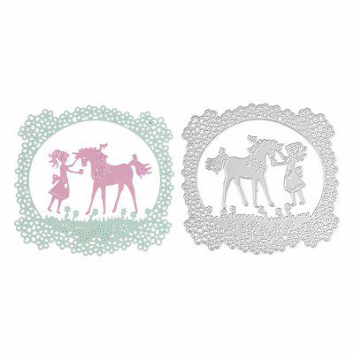 Girl Unicorn Design Metal Cutting Dies for Greeting Card Cover Photo Album brooklyn bridge landmark building 3d pop up greeting card laser cutting dies envelope hollow carved handmade kirigami gifts