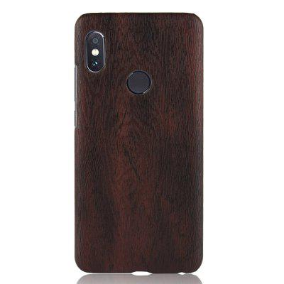 Luanke PC Wood Texture PU Leather Paste Case for Xiaomi Mi 6X