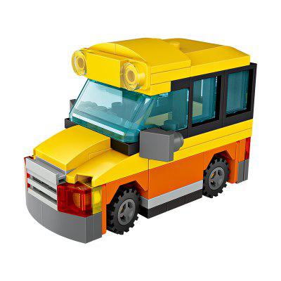 LOZ Building Blocks Mini School Bus Model Intelligence Toy kazi building blocks military tank model building blocks 548 pcs boys