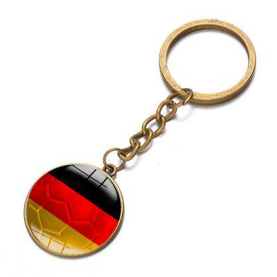 Football National Flag Model Keychain for 2018 FIFA World Cup tiebao a15519 men women lace up football boots rubber outsole soccer shoes adult turf soccer boots unisex football shoes
