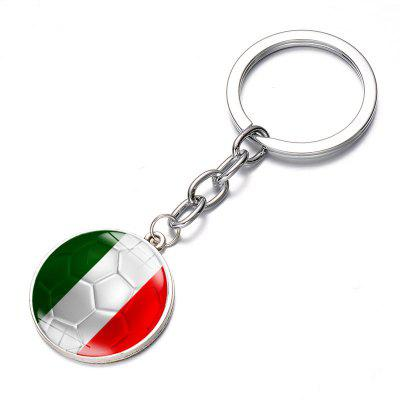 Football National Flag Model Keychain for 2018 FIFA World Cup tiebao a1017 adult lacing up football boots outdoor lawn men women soccer shoes tpu outsole training soccer boots