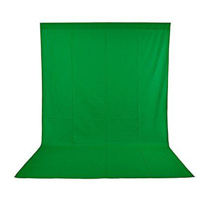 Craphhy 3*3meters Photo Studio 100 Percent Pure Collapsible Backdrop Background for Photography, Video and Television (Background Only) - Green
